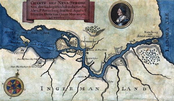 Где находится на карте река нева 26